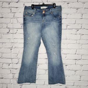 Torrid Distressed Flared Jeans